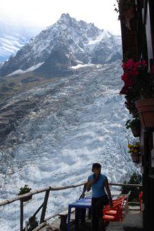 Trekking até ao glaciar de Bossons