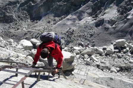 A vertiginosa descida até ao glaciar