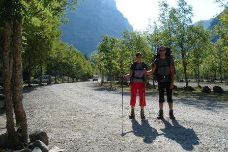 O início da caminhada de 2 dias pelo Parque de Ordesa e Monte Perdido