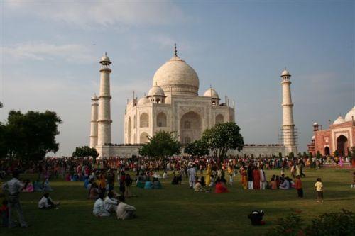 A festa no Taj Mahal