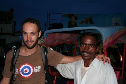 O Sérgio com o Sr. La-la