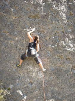 O motivo da viagem: escalar!