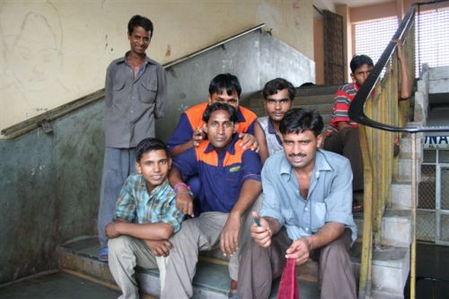 Funcionários da estação de comboio
