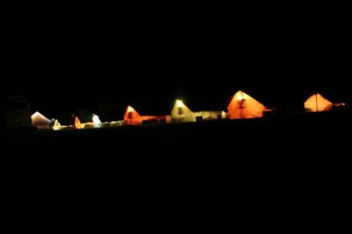 O acampamento nos Himalaias