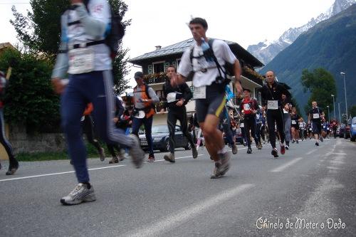 Ultra trail Mont Blanc, 2005 (nesta edição OLMO Marco chegaria em 3º lugar com 21h 49 min e 57 seg)